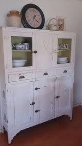Retro Kitchen Hutch Stunning Retro Kitchen Hutch With Meat Safe Painted In White Chalk