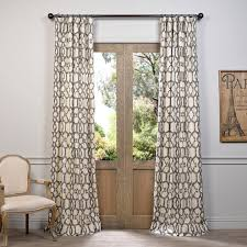 these printed cotton curtains and drapes provide a casual and