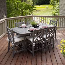 Rustic Outdoor Furniture by Dining Room Picture Of Rustic Patio Furniture Dining Set With