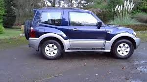 blue mitsubishi shogun equippe 3 2 di d automatic 4wd youtube