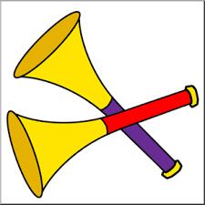 party horns clip new year party horns color i abcteach abcteach