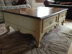 French Country Coffee Tables - vintage 1950 u0027s willett solid maple coffee table with drawer mid