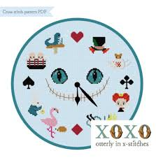 alice in wonderland inspired cross stitch patterns
