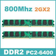 Memory 4gb Pc kvr800d2n6 2g pc 6400 ddr2 800 mhz 4gb kit 2gx2 memory ram memoria