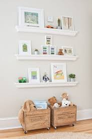Wooden Gallery Shelf by Wall Shelves Design White Wall Shelves For Nursery With Hooks