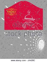 illustration of template for menu card with cutlery stock vector