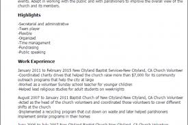 Resume Examples Volunteer Work by Resume Template For Church Reentrycorps