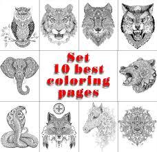 best coloring pages artist nadiya vasilkova printable coloring pages set u201c10 best