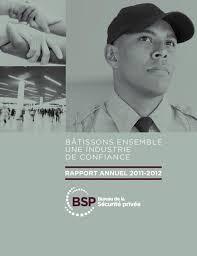 bureau sécurité privée rapports annuels du bureau de la sécurité privée