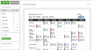 printing the schedule u2013 when i work help center