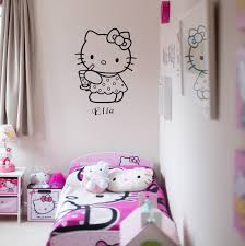 mini make over hello kitty bedroom finnterior designer the h m wall shelves above the bed are great for play but not ideal for storing larger items the trible cube shelving is fantastic for storing any larger