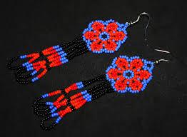 Native American Beaded Earrings Huichol Huichol Earrings Huichol Jewelry Native American Beaded