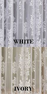 lace curtains carly floral lace curtain panel with attached