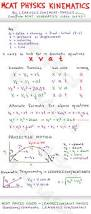 kinematics cheat sheet mcat physics study guide jpg 1 069 2 521