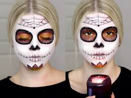 Sugar Skull Halloween Makeup Sugar Skull Makeup Tutorial Halloween Youtube