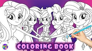 coloring pages girls my little pony equestria rainbow rocks