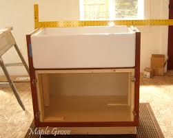 how to install farm sink in cabinet maple grove how to build a support structure for a farm