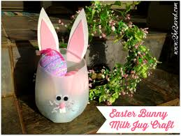 easter bunny milk jug craft shesaved