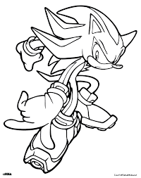 sonic hedgehog coloring pages shadow sonic coloring pages funycoloring