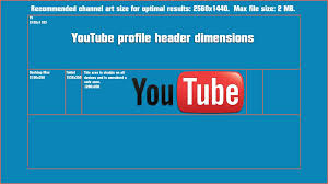youtube channel banner size best business template