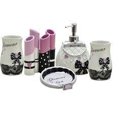 fashion modern bathroom accessories set bag lotion bottle lipstick