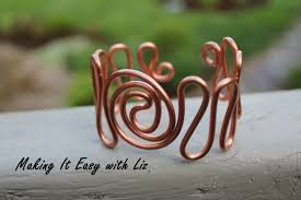 How To Make Jewelry Out Of Wire - easy wire work cuff bracelet
