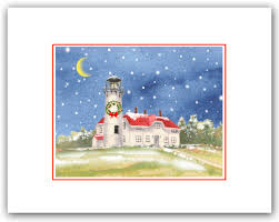 chatham lighthouse cape cod ma christmas cards winter