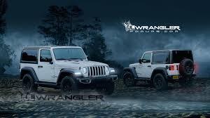 built jeep wrangler 2018 jeep wrangler two door rendered with new cues