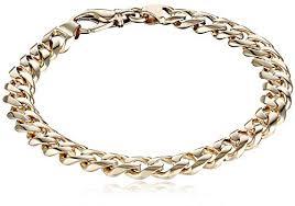 cuban gold bracelet images Men 39 s 14k yellow gold 8 4mm fancy cuban bracelet gold jpg