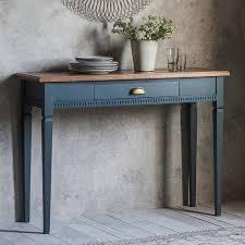 Painted Console Table Painted Console Table With Oak Top Midnight Primrose Plum