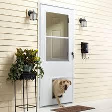 Sliding Glass Patio Storm Doors Backyards Glass Storm Door With Pet Patio Built And Using Clear
