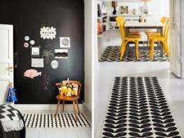 grand tapis cuisine shopping un tapis graphique noir et blanc