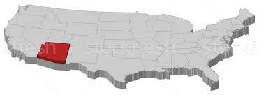 map of the united states with arizona highlighted map of the united states arizona highlighted vector illustration