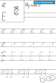 letter e e handwriting practice sheet english skills online