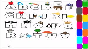 abc coloring pages alphabet coloring pages for kids youtube
