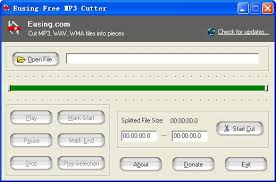 free download of mp3 cutter for pc eusing free mp3 cutter cut mp3 wav wma files into pieces
