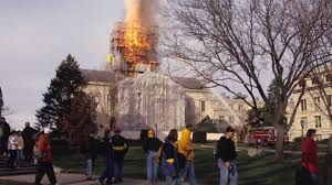 Iowa State Capitol by Old Capitol Dome Fire At The University Of Iowa Youtube