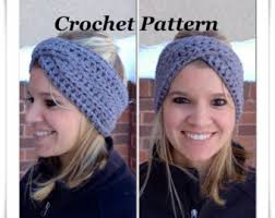winter headband crochet pattern crossover headband crochet winter headband