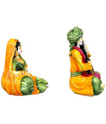 kavya home decor resin rajasthani marwadi couple wall sculpture