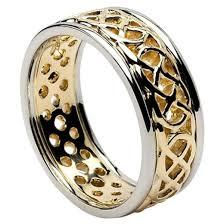 celtic wedding knot ceremony pierced celtic knot wedding ring with trim celtic wedding rings