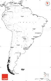 Map Of South America blank simple map of south america