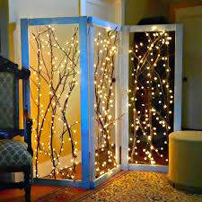 how to twinkling branches room divider cozy room and lights