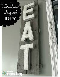 farmhouse inspired kitchen sign rustic diy decor