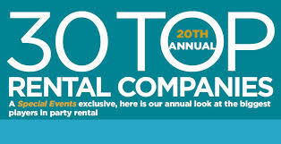 party rental companies special events 20th annual 30 top rental companies 2017 special