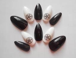 sigil of baphomet stiletto nails fake nails false nails