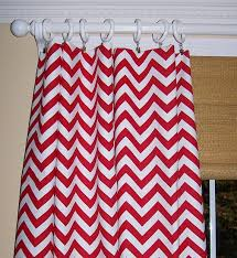 Chevron Valance Curtains Red White Chevron Curtains Two Drapery Panels Premier Prints