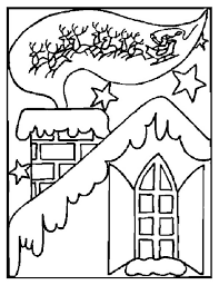 traditional winter season and christmas card coloring page
