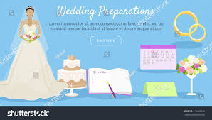 wedding preparation for wedding preparations web banner get ready stock vector 515969839