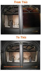Cleaning Glass On Fireplace Doors by Clean Wood Burning Stove Glass Doors Without Chemicals