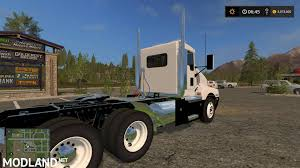 kw semi truck kw t600 oversize load and led lights v2 mod farming simulator 17